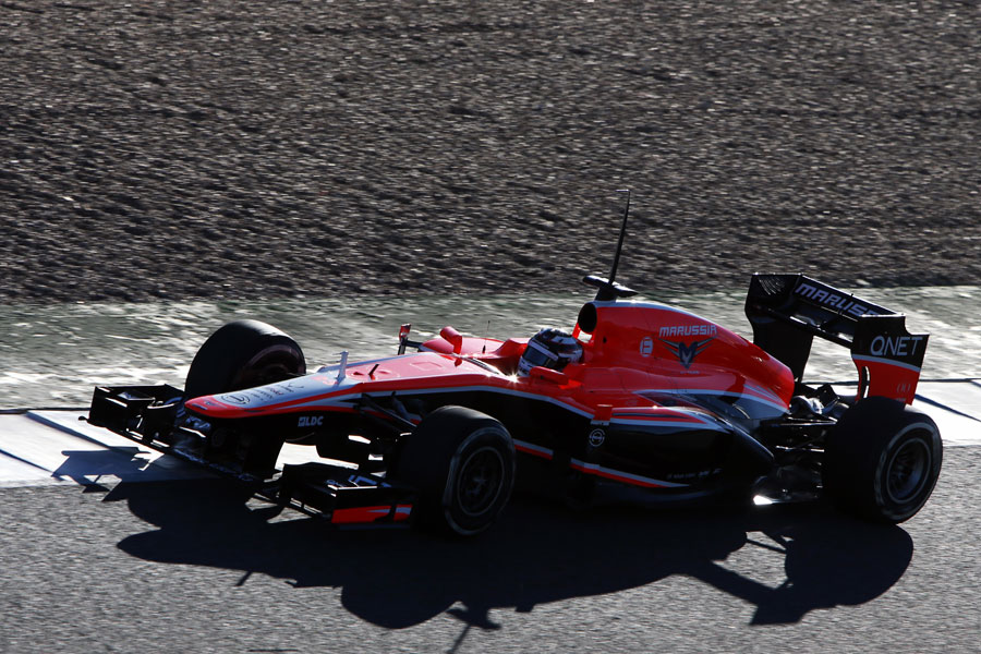 Max Chilton at speed in the MR02
