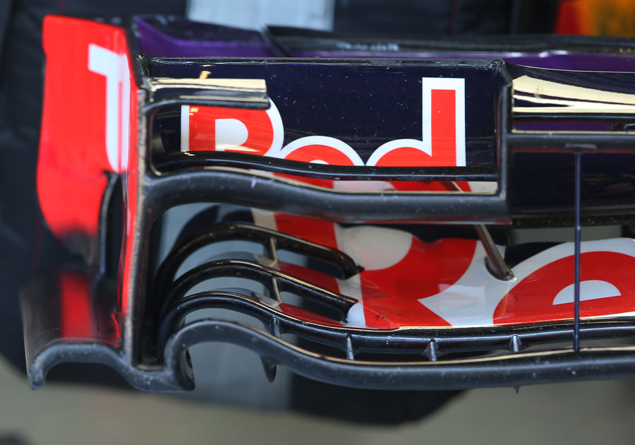 Detail on the Red Bull front wing