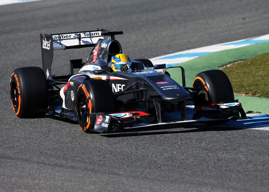 Esteban Gutierrez on his first day in the Sauber C32