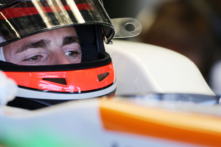 James Rossiter in the cockpit of the Force India
