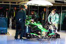 Charles Pic prepares to head out in the Caterham