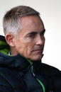 Martin Whitmarsh deep in thought on the first day of testing