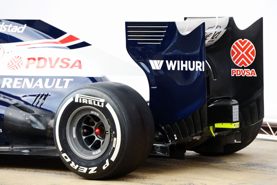The rear of the new Williams FW34