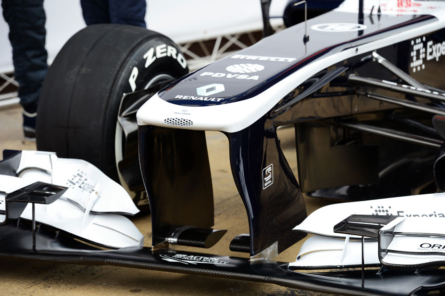 The nose of the new Williams FW34
