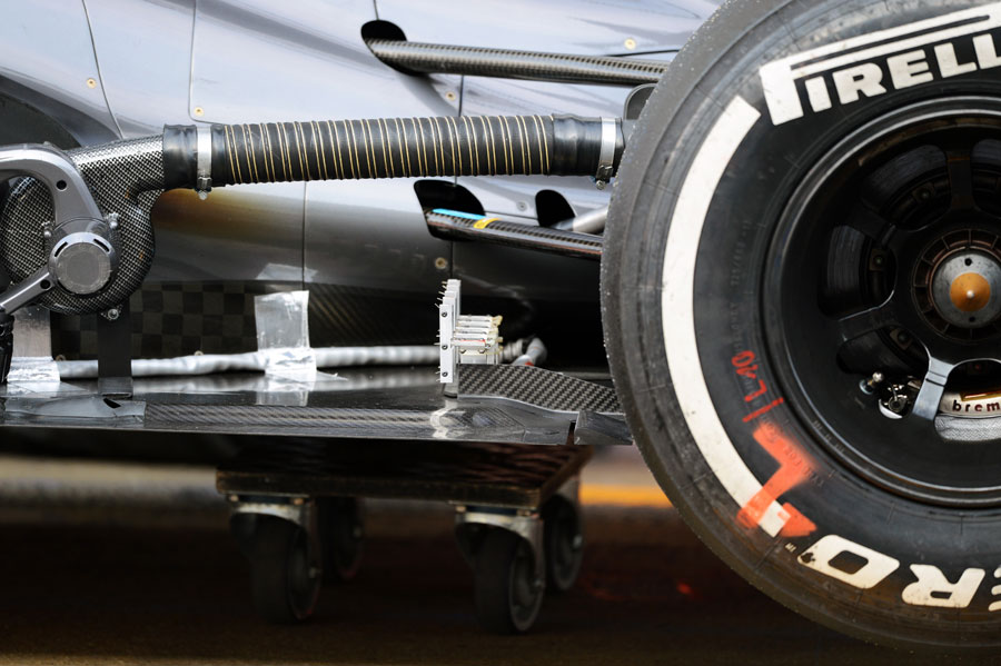 Measuring equipment on the Sauber C32