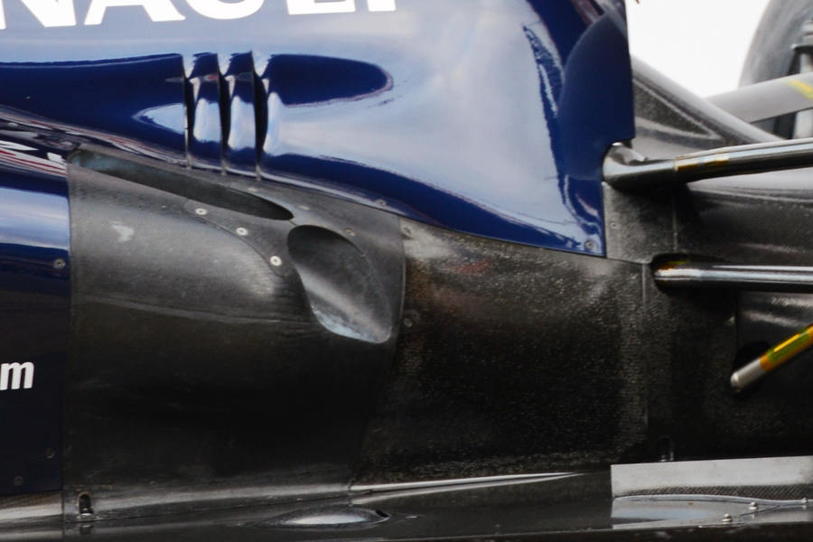 The exhausts on the new Williams FW35