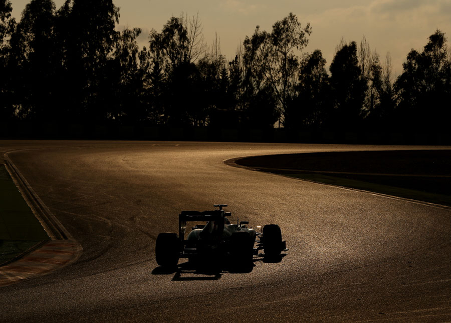 Max Chilton on track in low light