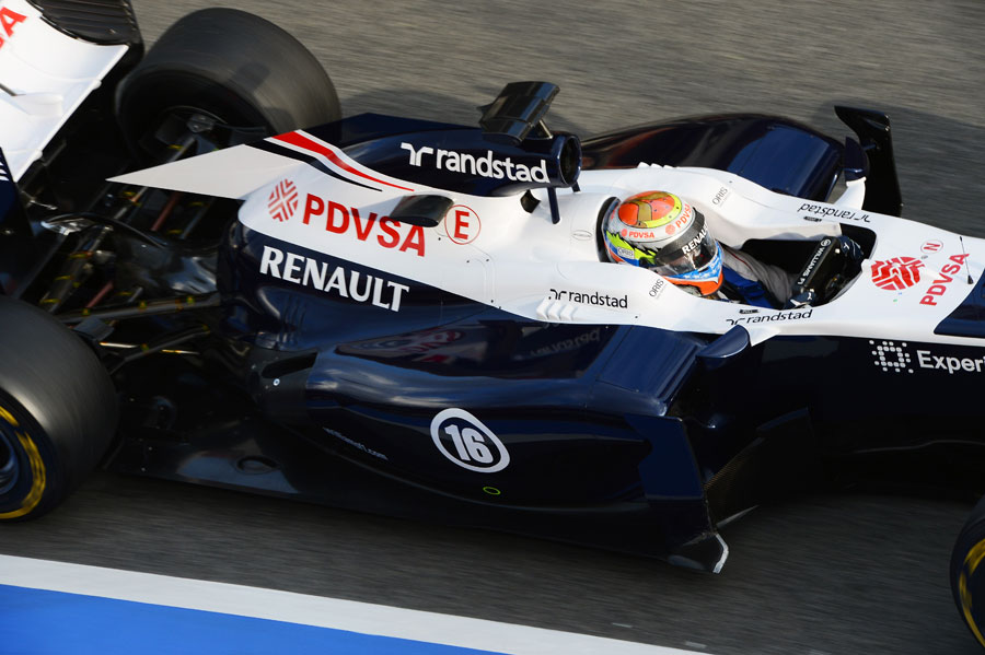 A view of the rear of the Williams FW35