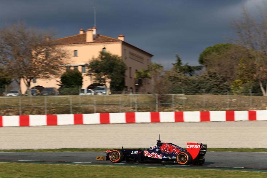Daniel Ricciardo at speed in the STR8