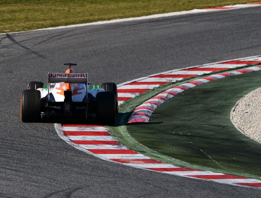 Paul di Resta hits the turn eight apex