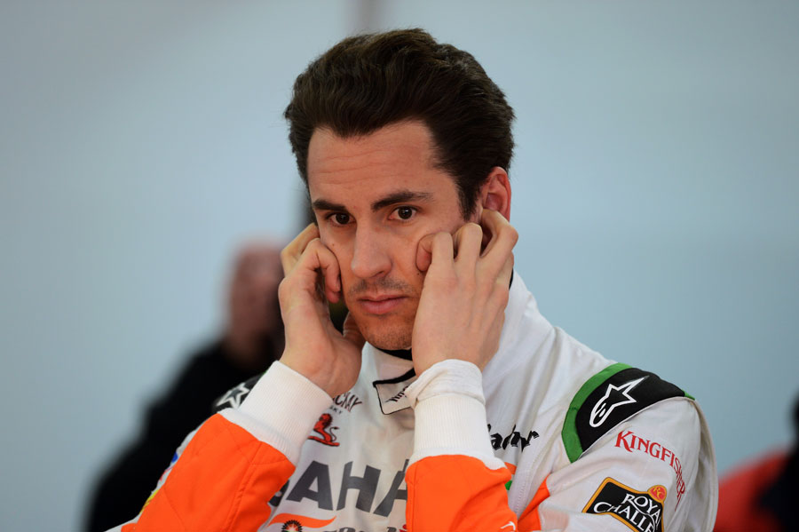 Adrian Sutil in the Force India overalls