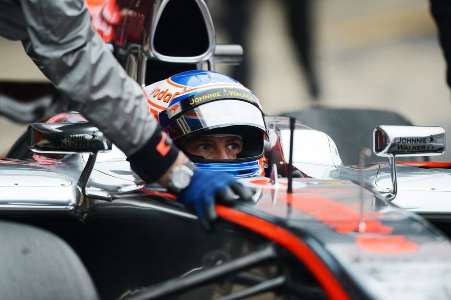 Jenson Button in the McLaren MP4/28