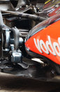 Rear suspension of the McLaren