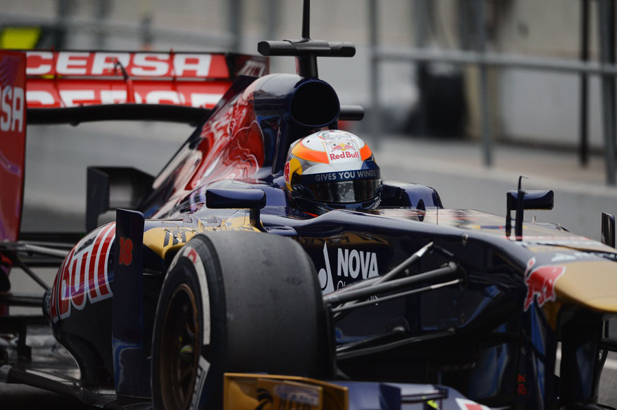 Jean-Eric Vergne in the Toro Rosso