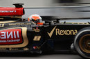 Romain Grosjean in the Lotus E21