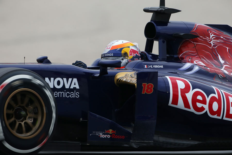 Detail on the Toro Rosso STR8