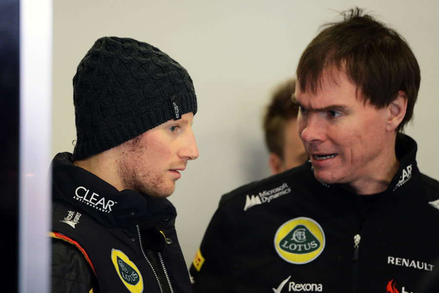 Romain Grosjean and race engineer Alan Permane