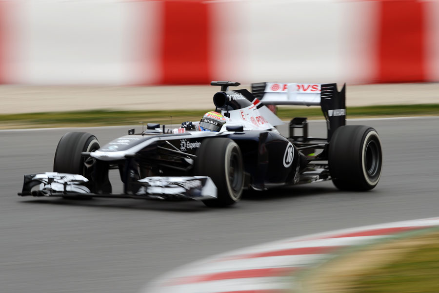 Williams' Pastor Maldonado in the FW35