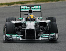 Lewis Hamilton makes the most of a dry track on Friday