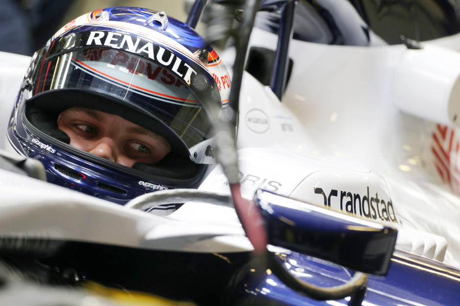 Valtteri Bottas in the cockpit of the FW35