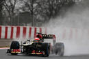 Romain Grosjean on full wet tyres on Friday afternoon