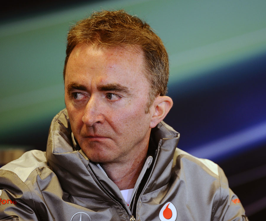 Paddy Lowe in the FIA press conference
