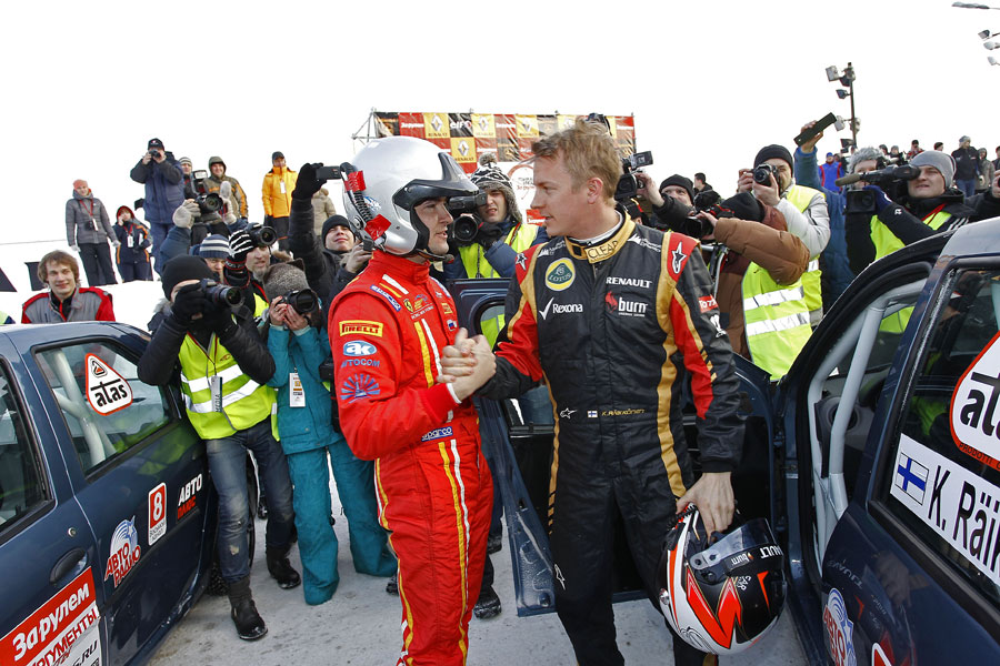Kimi Raikkonen takes part in Race of the Stars