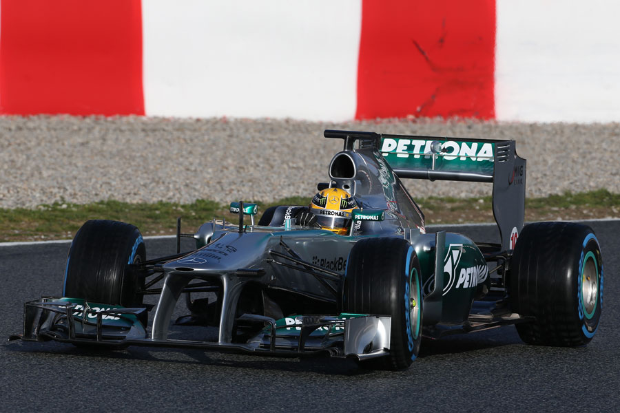 Lewis Hamilton on track for Mercedes