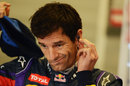 Mark Webber prepares for another run in the wet