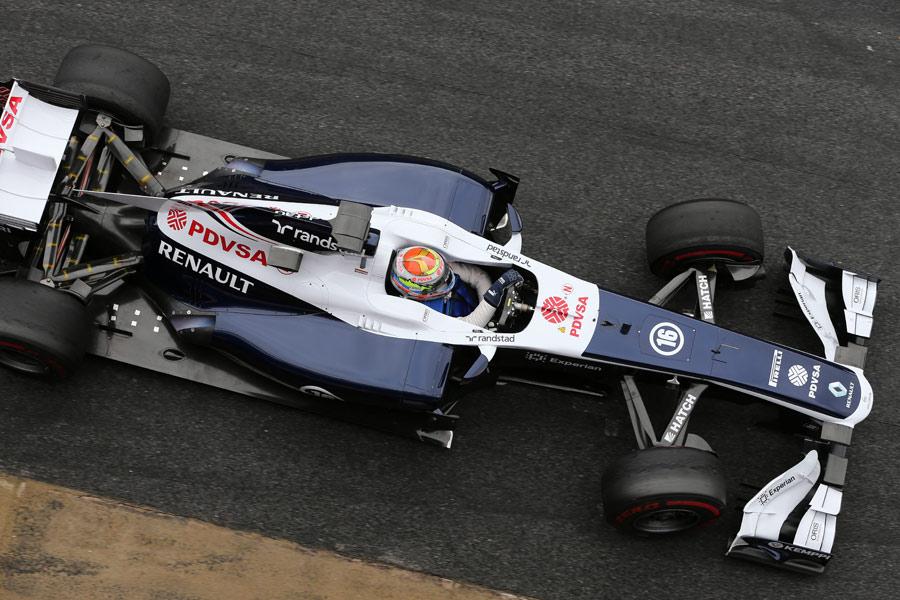 Pastor Maldonado in the pits