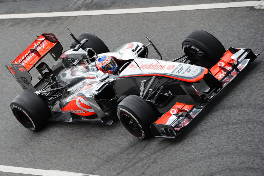 Jenson Button in the McLaren