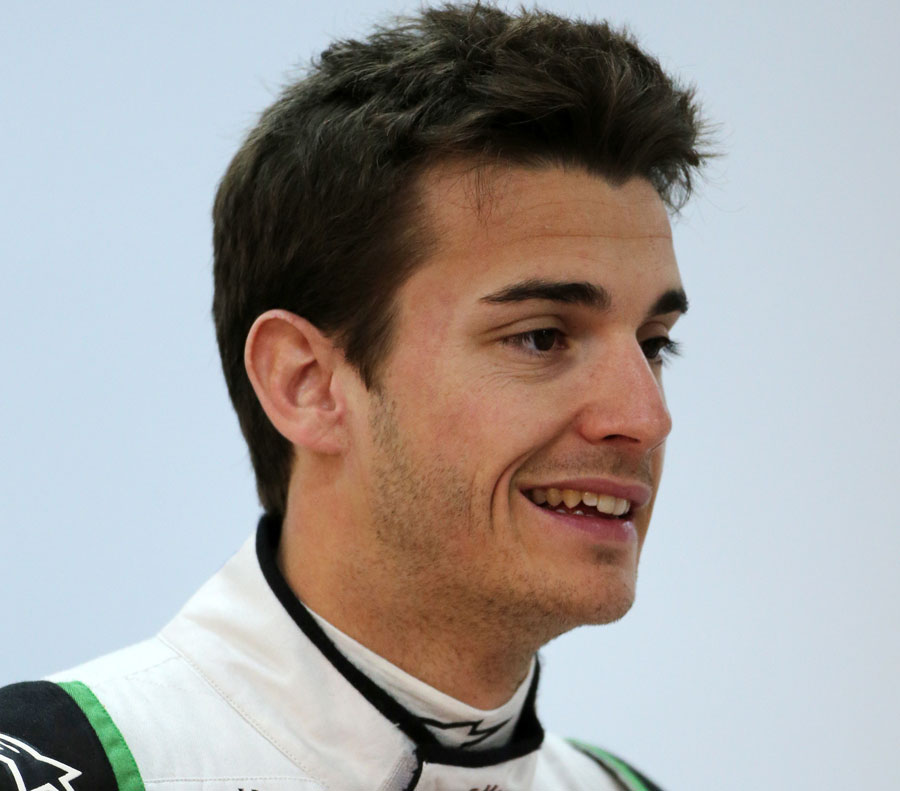 Jules Bianchi in the Force India garage