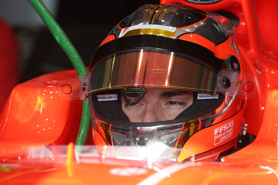Jules Bianchi in the cockpit of the Marussia