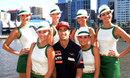 Daniel Ricciardo  with the Rolex Grid girls