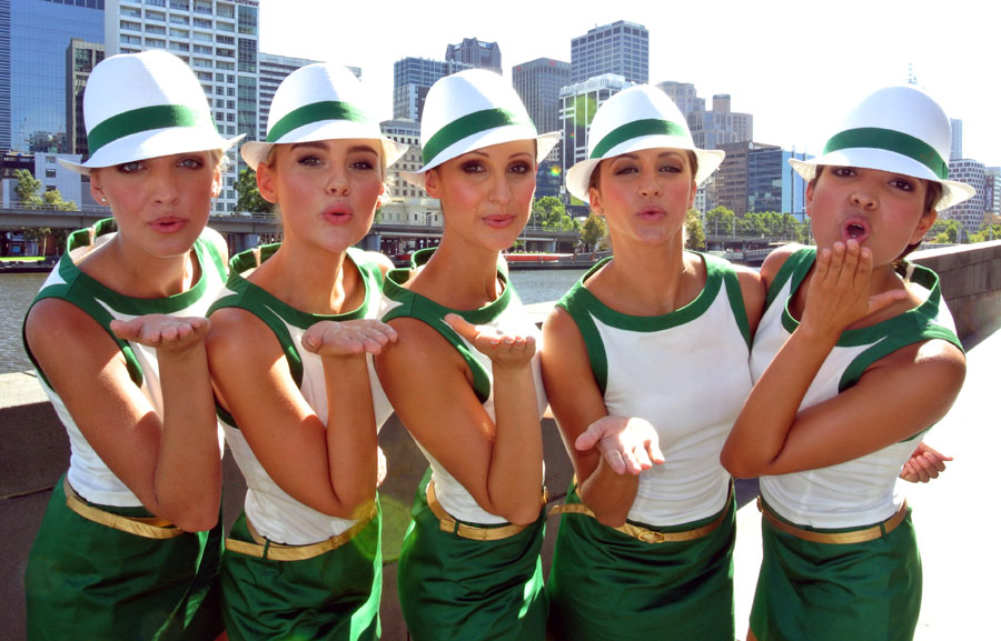 The Rolex Grid girls in Melbourne