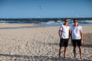 Marussia team-mates Max Chilton and Jules Bianchi on the beach