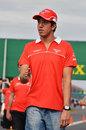 Marussia reserve driver Rodolfo Gonzalez walks the track