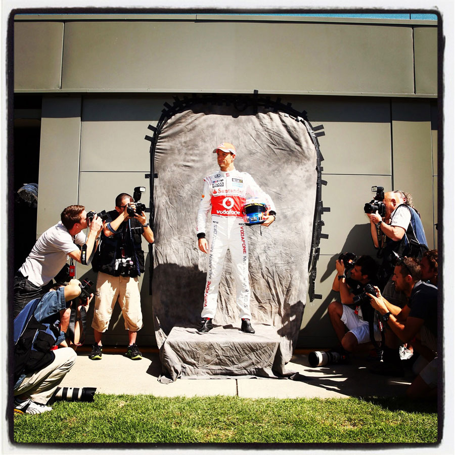 Jenson Button during the driver portrait session