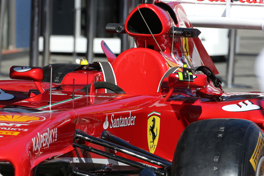 Ferrari's F138 awaits scrutineering