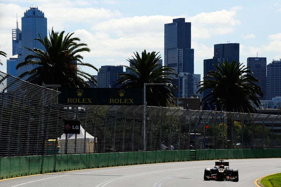 Kimi Raikkonen with the city behind him