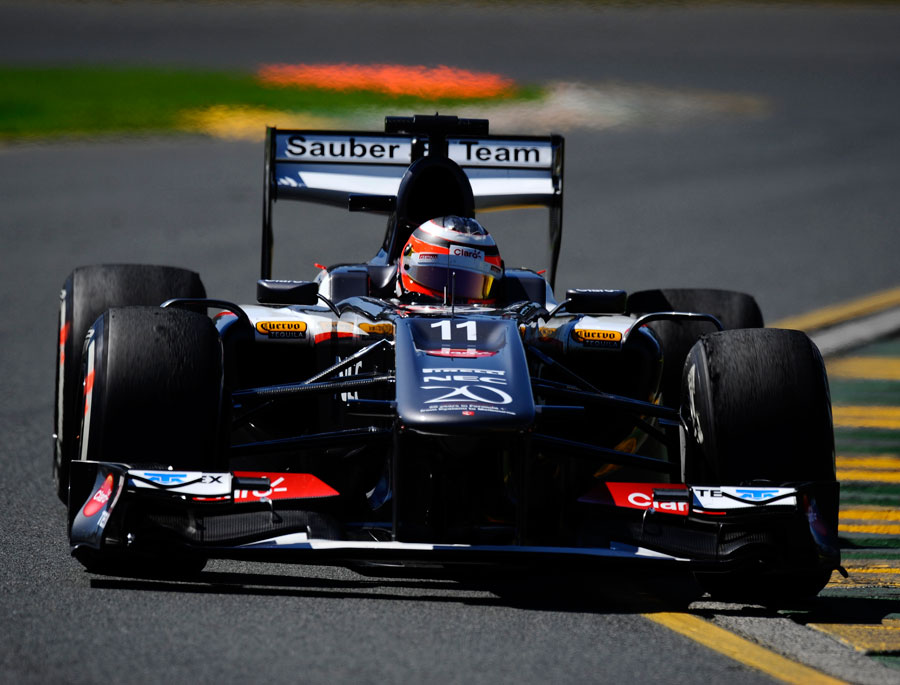 Nico Hülkenberg puts the Sauber through its paces