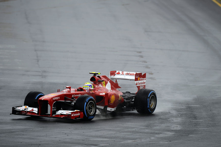 Felipe Massa aims for an apex on full wets