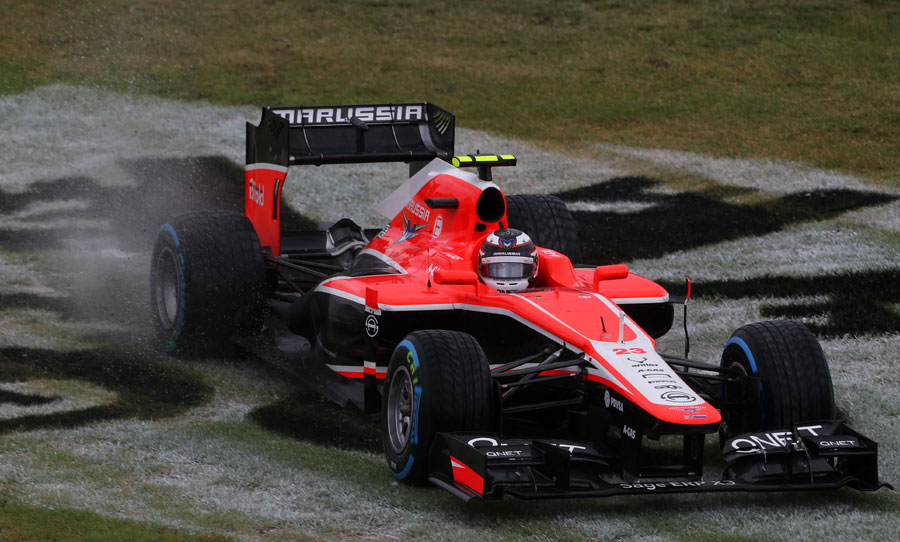 Max Chilton takes to the grass