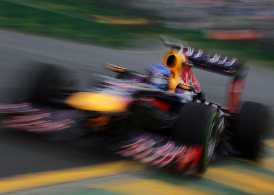 Sebastian Vettel exits the final corner