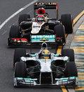 Lewis Hamilton holds off  Kimi Raikkonen