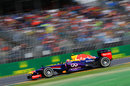 Mark Webber at speed on medium tyres
