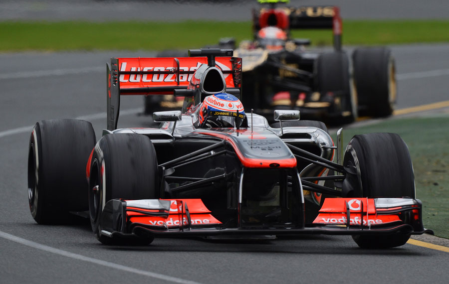 Jenson Button on his way to 9th