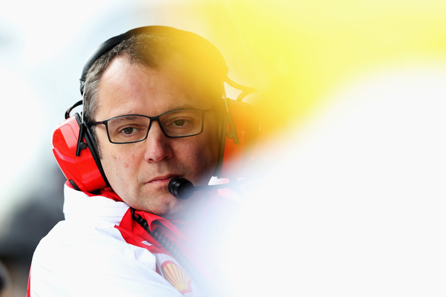 Stefano Domenicali casts a watchful eye over qualifying