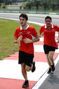 Jules Bianchi runs the track on Thursday