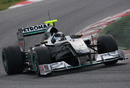 Nico Rosberg setting the early pace in Barcelona